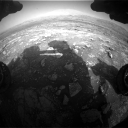 Nasa's Mars rover Curiosity acquired this image using its Front Hazard Avoidance Camera (Front Hazcam) on Sol 3005, at drive 504, site number 85