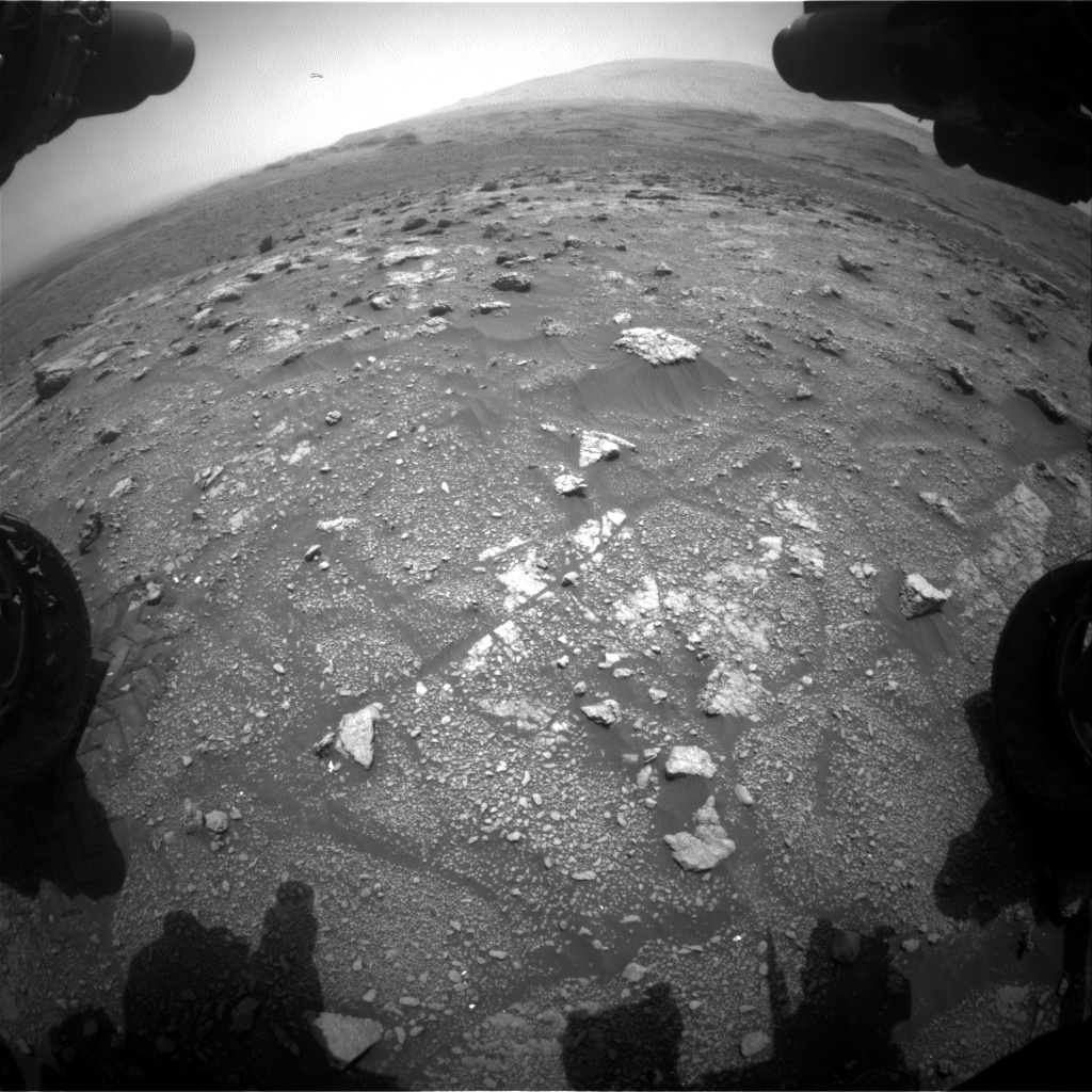 Nasa's Mars rover Curiosity acquired this image using its Front Hazard Avoidance Camera (Front Hazcam) on Sol 3006, at drive 538, site number 85