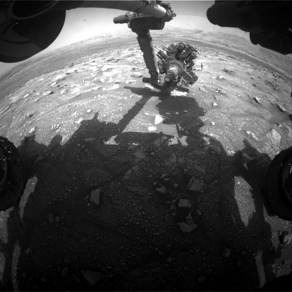 Nasa's Mars rover Curiosity acquired this image using its Front Hazard Avoidance Camera (Front Hazcam) on Sol 3007, at drive 538, site number 85