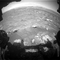 Nasa's Mars rover Curiosity acquired this image using its Front Hazard Avoidance Camera (Front Hazcam) on Sol 3008, at drive 844, site number 85