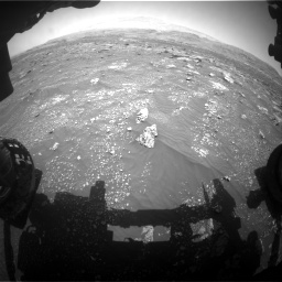 Nasa's Mars rover Curiosity acquired this image using its Front Hazard Avoidance Camera (Front Hazcam) on Sol 3008, at drive 856, site number 85