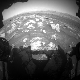 Nasa's Mars rover Curiosity acquired this image using its Front Hazard Avoidance Camera (Front Hazcam) on Sol 3008, at drive 1006, site number 85
