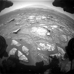 Nasa's Mars rover Curiosity acquired this image using its Front Hazard Avoidance Camera (Front Hazcam) on Sol 3008, at drive 742, site number 85
