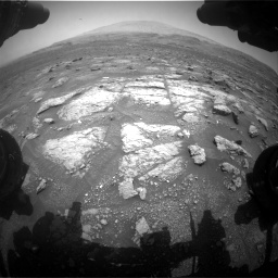 Nasa's Mars rover Curiosity acquired this image using its Front Hazard Avoidance Camera (Front Hazcam) on Sol 3008, at drive 760, site number 85