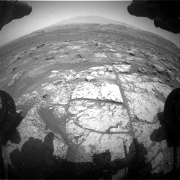 Nasa's Mars rover Curiosity acquired this image using its Front Hazard Avoidance Camera (Front Hazcam) on Sol 3008, at drive 772, site number 85