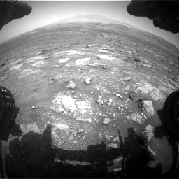 Nasa's Mars rover Curiosity acquired this image using its Front Hazard Avoidance Camera (Front Hazcam) on Sol 3008, at drive 808, site number 85