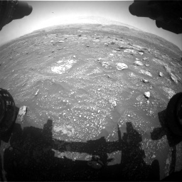 Nasa's Mars rover Curiosity acquired this image using its Front Hazard Avoidance Camera (Front Hazcam) on Sol 3008, at drive 862, site number 85
