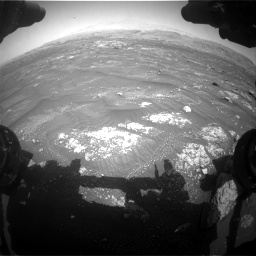 Nasa's Mars rover Curiosity acquired this image using its Front Hazard Avoidance Camera (Front Hazcam) on Sol 3008, at drive 946, site number 85