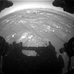 Nasa's Mars rover Curiosity acquired this image using its Front Hazard Avoidance Camera (Front Hazcam) on Sol 3008, at drive 964, site number 85