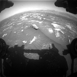 Nasa's Mars rover Curiosity acquired this image using its Front Hazard Avoidance Camera (Front Hazcam) on Sol 3008, at drive 982, site number 85