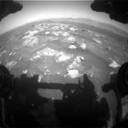 Nasa's Mars rover Curiosity acquired this image using its Front Hazard Avoidance Camera (Front Hazcam) on Sol 3008, at drive 988, site number 85