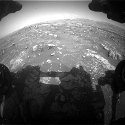 Nasa's Mars rover Curiosity acquired this image using its Front Hazard Avoidance Camera (Front Hazcam) on Sol 3008, at drive 1066, site number 85