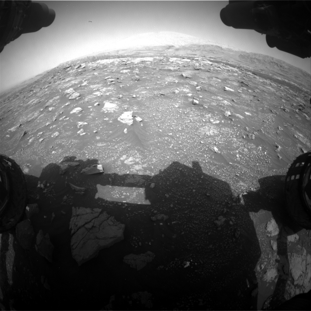 Nasa's Mars rover Curiosity acquired this image using its Front Hazard Avoidance Camera (Front Hazcam) on Sol 3008, at drive 1072, site number 85