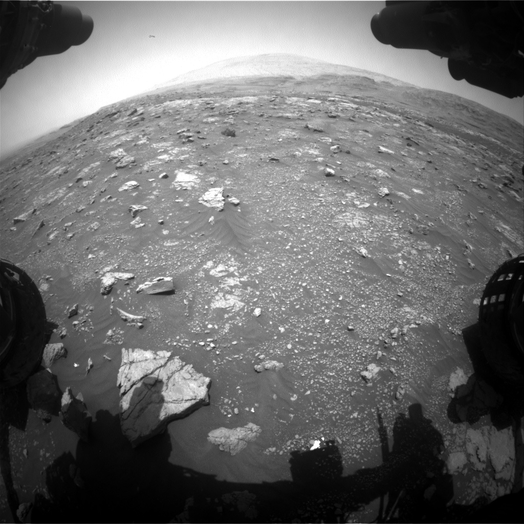 Nasa's Mars rover Curiosity acquired this image using its Front Hazard Avoidance Camera (Front Hazcam) on Sol 3009, at drive 1072, site number 85