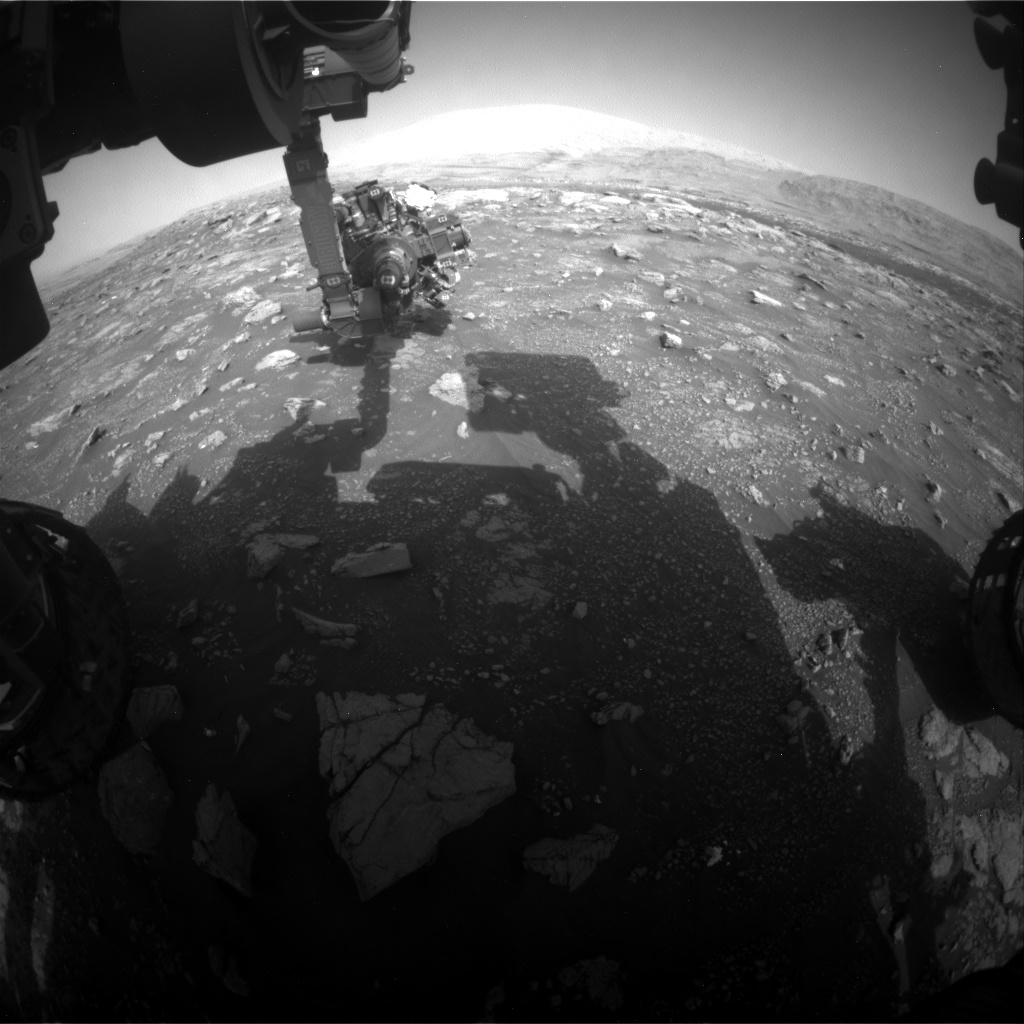 Nasa's Mars rover Curiosity acquired this image using its Front Hazard Avoidance Camera (Front Hazcam) on Sol 3010, at drive 1072, site number 85