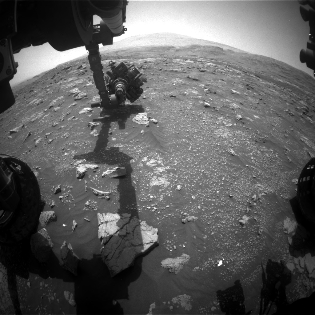Nasa's Mars rover Curiosity acquired this image using its Front Hazard Avoidance Camera (Front Hazcam) on Sol 3011, at drive 1072, site number 85