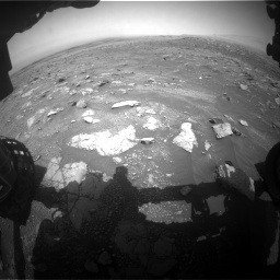 Nasa's Mars rover Curiosity acquired this image using its Front Hazard Avoidance Camera (Front Hazcam) on Sol 3011, at drive 1168, site number 85