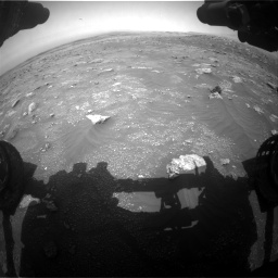 Nasa's Mars rover Curiosity acquired this image using its Front Hazard Avoidance Camera (Front Hazcam) on Sol 3011, at drive 1186, site number 85