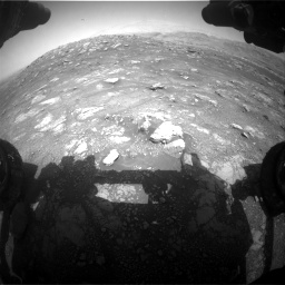 Nasa's Mars rover Curiosity acquired this image using its Front Hazard Avoidance Camera (Front Hazcam) on Sol 3011, at drive 1300, site number 85