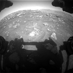 Nasa's Mars rover Curiosity acquired this image using its Front Hazard Avoidance Camera (Front Hazcam) on Sol 3011, at drive 1336, site number 85