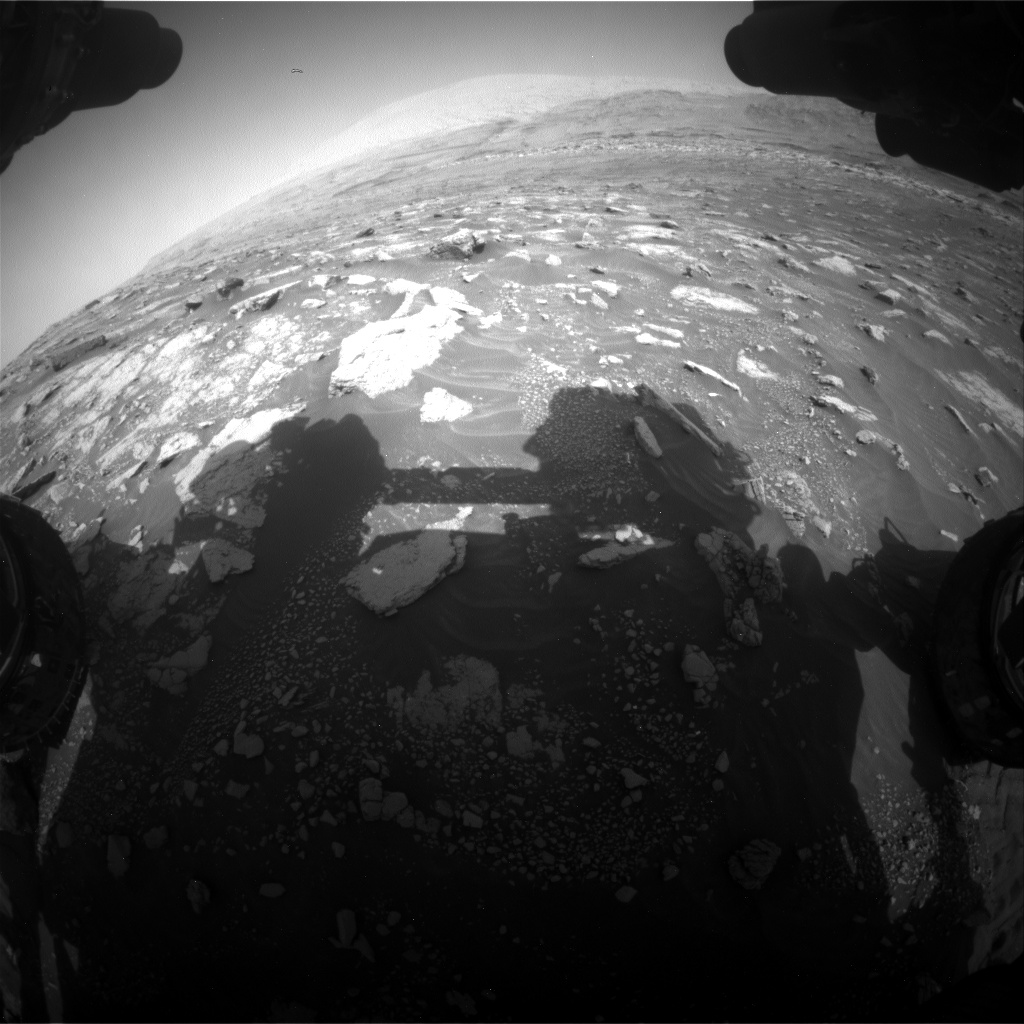 Nasa's Mars rover Curiosity acquired this image using its Front Hazard Avoidance Camera (Front Hazcam) on Sol 3011, at drive 1486, site number 85