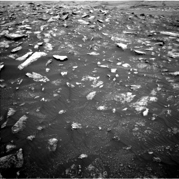 Nasa's Mars rover Curiosity acquired this image using its Left Navigation Camera on Sol 3011, at drive 1336, site number 85