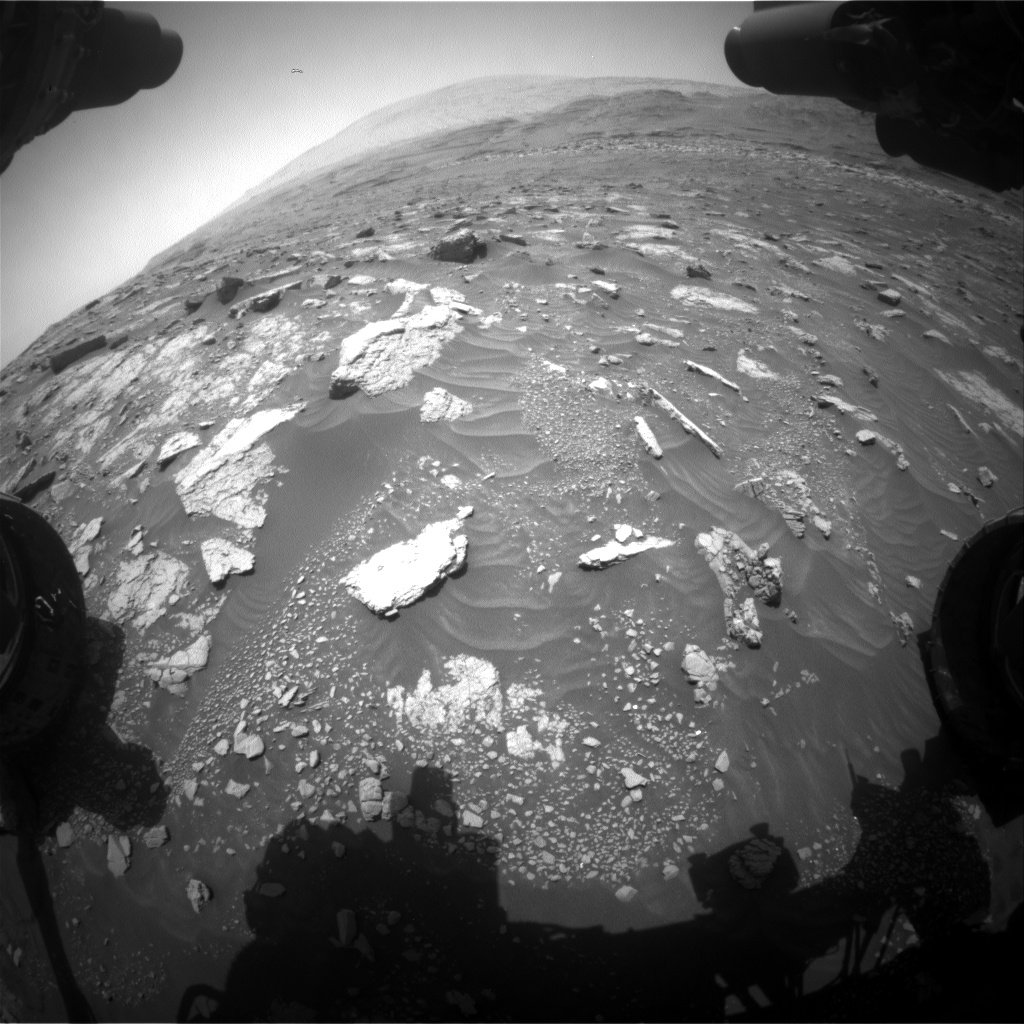 Nasa's Mars rover Curiosity acquired this image using its Front Hazard Avoidance Camera (Front Hazcam) on Sol 3012, at drive 1486, site number 85