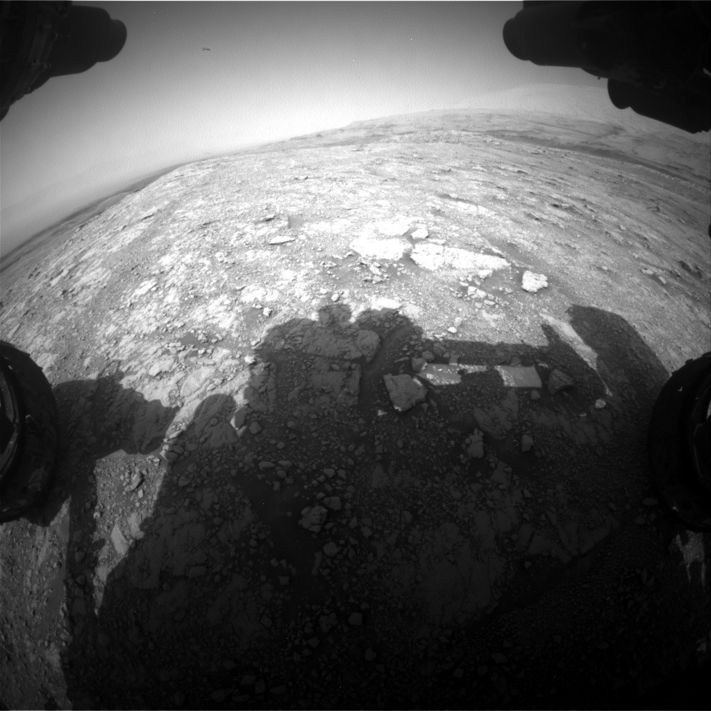 Nasa's Mars rover Curiosity acquired this image using its Front Hazard Avoidance Camera (Front Hazcam) on Sol 3015, at drive 2168, site number 85