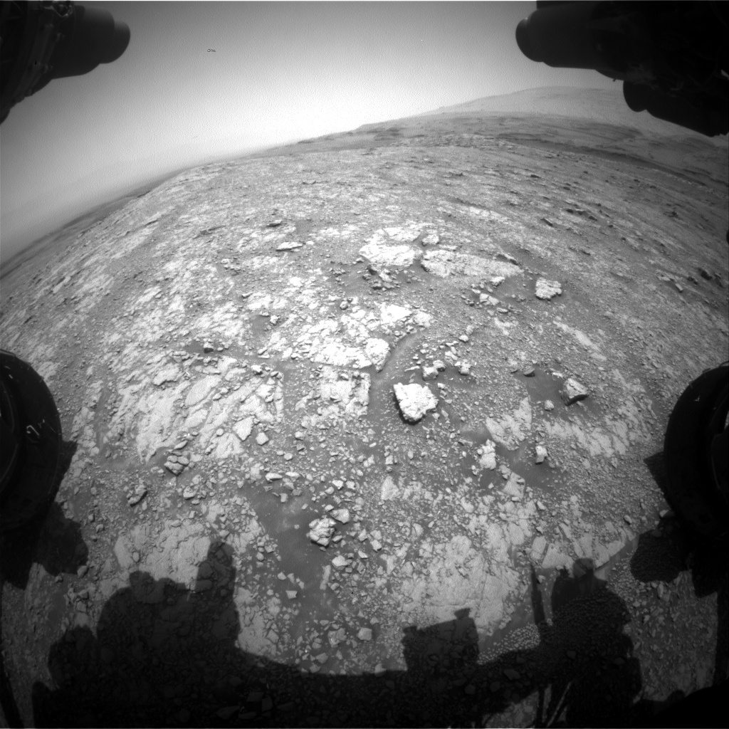 Nasa's Mars rover Curiosity acquired this image using its Front Hazard Avoidance Camera (Front Hazcam) on Sol 3016, at drive 2168, site number 85