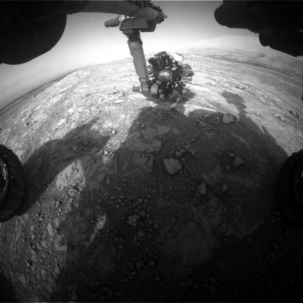 Nasa's Mars rover Curiosity acquired this image using its Front Hazard Avoidance Camera (Front Hazcam) on Sol 3017, at drive 2168, site number 85
