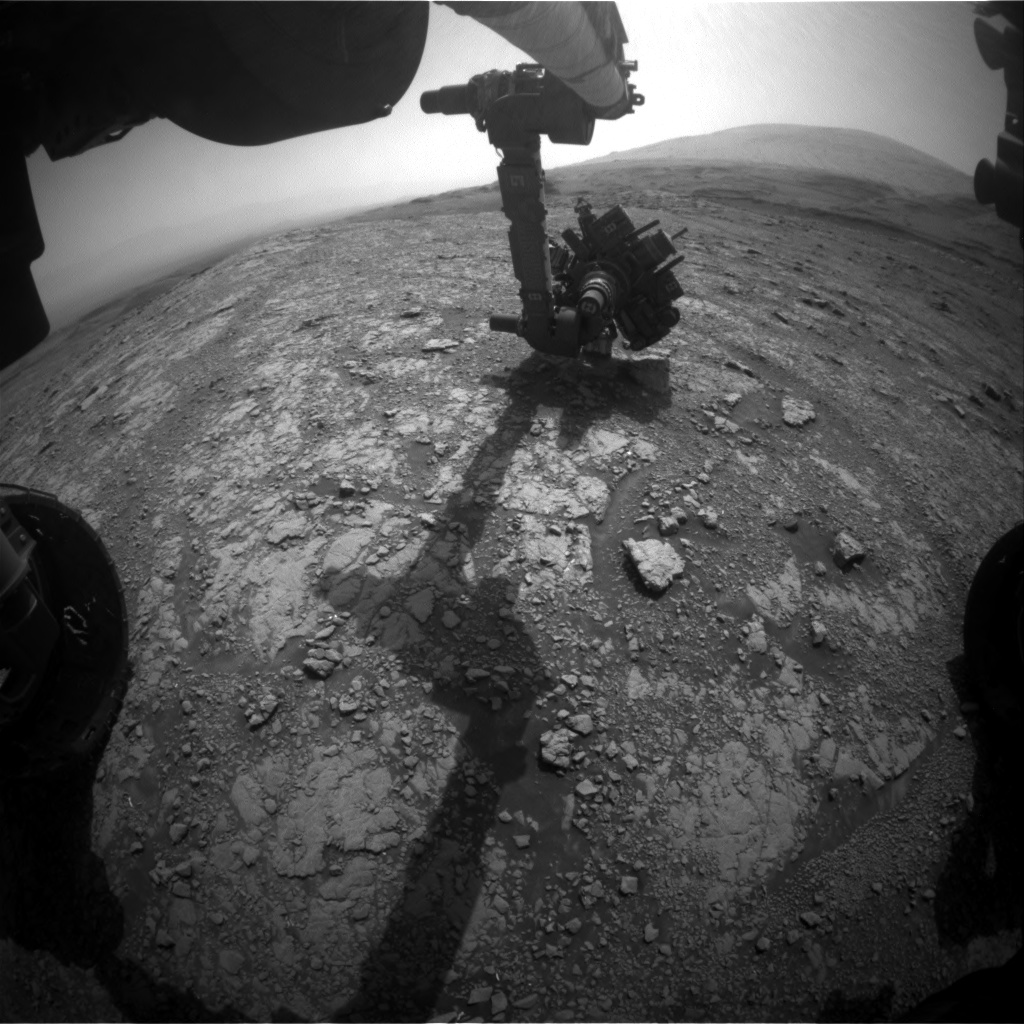 Nasa's Mars rover Curiosity acquired this image using its Front Hazard Avoidance Camera (Front Hazcam) on Sol 3018, at drive 2168, site number 85