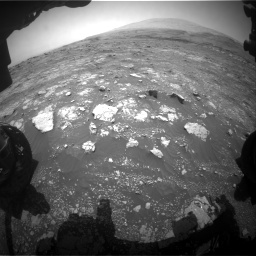 Nasa's Mars rover Curiosity acquired this image using its Front Hazard Avoidance Camera (Front Hazcam) on Sol 3018, at drive 2300, site number 85