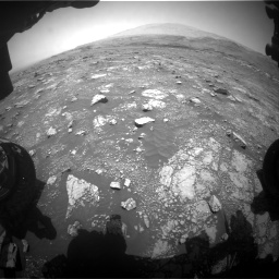Nasa's Mars rover Curiosity acquired this image using its Front Hazard Avoidance Camera (Front Hazcam) on Sol 3018, at drive 2330, site number 85