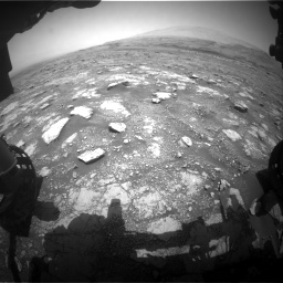 Nasa's Mars rover Curiosity acquired this image using its Front Hazard Avoidance Camera (Front Hazcam) on Sol 3018, at drive 2378, site number 85