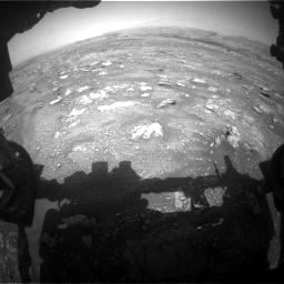 Nasa's Mars rover Curiosity acquired this image using its Front Hazard Avoidance Camera (Front Hazcam) on Sol 3018, at drive 2480, site number 85