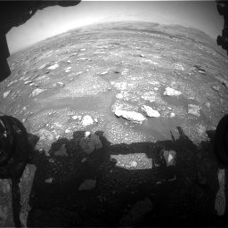 Nasa's Mars rover Curiosity acquired this image using its Front Hazard Avoidance Camera (Front Hazcam) on Sol 3018, at drive 2486, site number 85