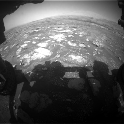 Nasa's Mars rover Curiosity acquired this image using its Front Hazard Avoidance Camera (Front Hazcam) on Sol 3018, at drive 2588, site number 85