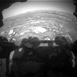 Nasa's Mars rover Curiosity acquired this image using its Front Hazard Avoidance Camera (Front Hazcam) on Sol 3018, at drive 2606, site number 85