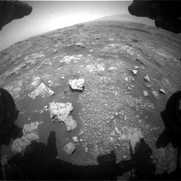 Nasa's Mars rover Curiosity acquired this image using its Front Hazard Avoidance Camera (Front Hazcam) on Sol 3018, at drive 2318, site number 85