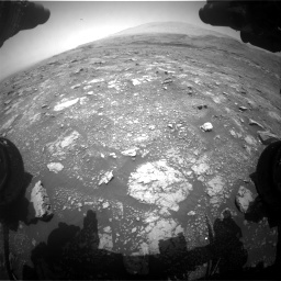 Nasa's Mars rover Curiosity acquired this image using its Front Hazard Avoidance Camera (Front Hazcam) on Sol 3018, at drive 2336, site number 85