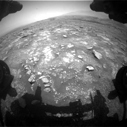 Nasa's Mars rover Curiosity acquired this image using its Front Hazard Avoidance Camera (Front Hazcam) on Sol 3018, at drive 2360, site number 85