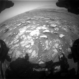 Nasa's Mars rover Curiosity acquired this image using its Front Hazard Avoidance Camera (Front Hazcam) on Sol 3018, at drive 2372, site number 85