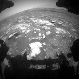 Nasa's Mars rover Curiosity acquired this image using its Front Hazard Avoidance Camera (Front Hazcam) on Sol 3018, at drive 2384, site number 85