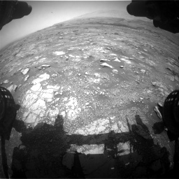 Nasa's Mars rover Curiosity acquired this image using its Front Hazard Avoidance Camera (Front Hazcam) on Sol 3018, at drive 2396, site number 85