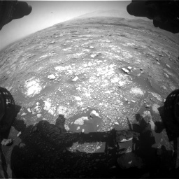 Nasa's Mars rover Curiosity acquired this image using its Front Hazard Avoidance Camera (Front Hazcam) on Sol 3018, at drive 2402, site number 85