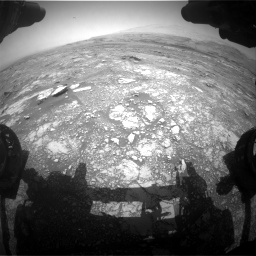 Nasa's Mars rover Curiosity acquired this image using its Front Hazard Avoidance Camera (Front Hazcam) on Sol 3018, at drive 2438, site number 85