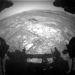 Nasa's Mars rover Curiosity acquired this image using its Front Hazard Avoidance Camera (Front Hazcam) on Sol 3018, at drive 2444, site number 85