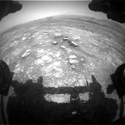 Nasa's Mars rover Curiosity acquired this image using its Front Hazard Avoidance Camera (Front Hazcam) on Sol 3018, at drive 2450, site number 85