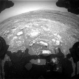 Nasa's Mars rover Curiosity acquired this image using its Front Hazard Avoidance Camera (Front Hazcam) on Sol 3018, at drive 2456, site number 85