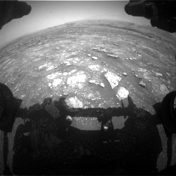 Nasa's Mars rover Curiosity acquired this image using its Front Hazard Avoidance Camera (Front Hazcam) on Sol 3018, at drive 2504, site number 85